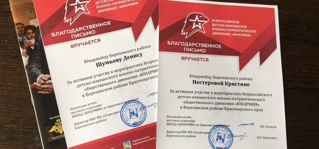 4 года со дня создания Всероссийского детстко-юношеского военно-патриотического общественного движения «ЮНАРМИЯ»